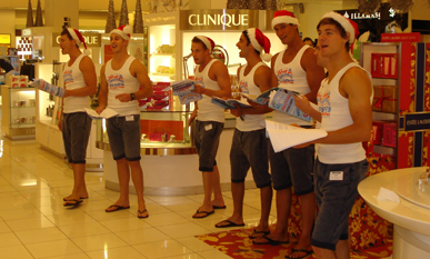 ...Bonds Topless Events Xmas Carollers S